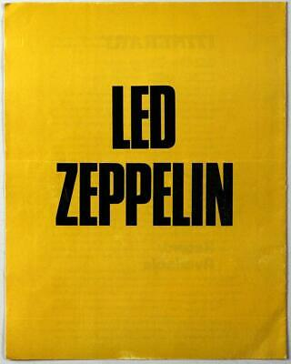 710bf00c LED ZEPPELIN - mega rare vintage original 1972/73 UK Show Souvenir program