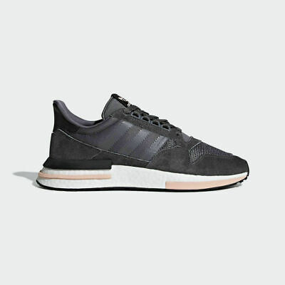 bf715ec83 Adidas Originals ZX 500 Rm Boost Men Grey Clear Orange Lifestyle Sneakers  B42217