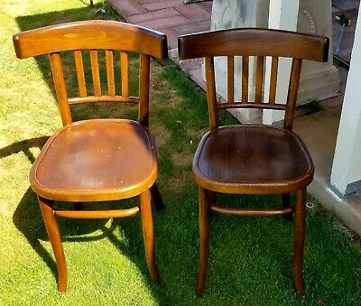 Antique (2) Fischel Asian Klismos Chairs - Dining, Bistro, Pub, Ice Cream