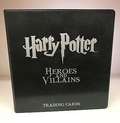 Harry Potter Heroes and Villains - Trading Card Binder / Album & Promo Cards