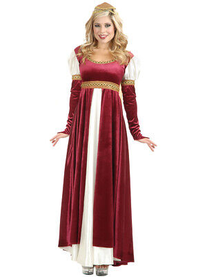 Adult's Womens Lady Of Camelot Medieval Renaissance Wine Dress Costume
