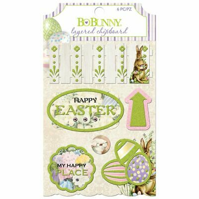 BO BUNNY Cottontail - Layered Chipboard - (6 Pieces)*Scrapbook Embellishments