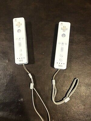 2 Nintendo Wii Controllers Lot Official OEM Wiimote Remote RVL-003