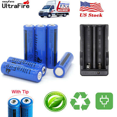 Ultrafire 6000mAh 18650 3.7V Li-ion Rechargeable Battery Charger For Torch lot