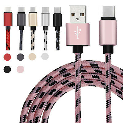 3 6 10FT Knitting TypeC Data Sync Charging Cable For Samsung Galaxy LG V20 G5 SE