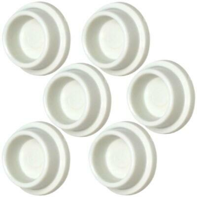 Iconikal Rubber Door Stopper For Wall - 6 Pack