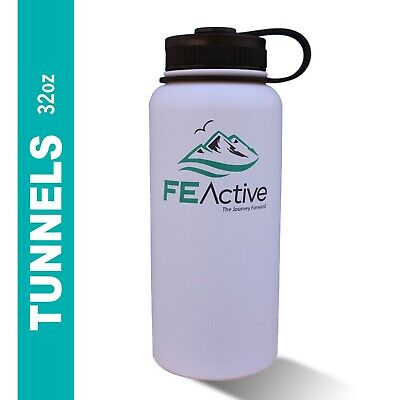FE Active 32oz Eco BPA Free Double Walled Insulated Stainless Steel Water Bottle