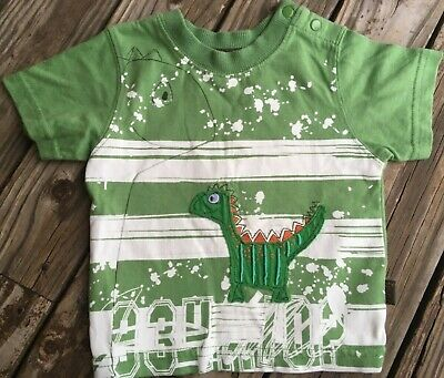 PUMPKIN PATCH BABY BOYS SIZE 00 3-6m DINOSAUR DINO TOP TEE EUC