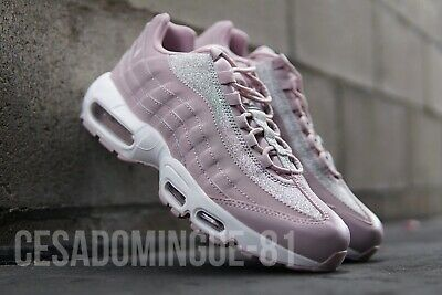 Details about NIKE Air Max 95 Womens Sneaker Trainer Size 8 Pink Glitter AT0068 600 NWOB