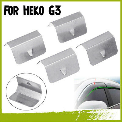 4Pcs Replacement In Channel Wind / Rain Deflectors Fitting Clips For Heko G3