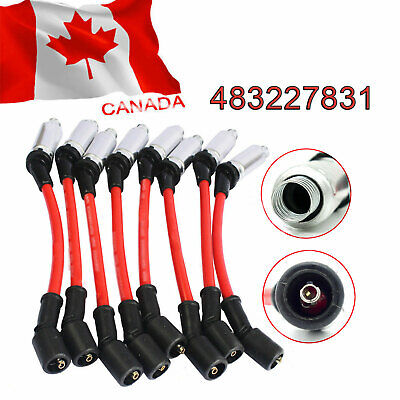 8X NEW Red Plug Wires High Performance For CHEVY Silverado 1500-2500 99-06