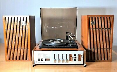 Vintage Awa B85U Turntable Record Changer Player With Speakers | Working