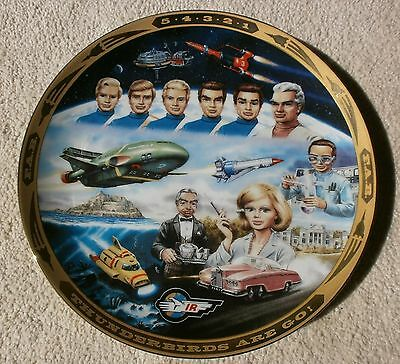 Thunderbirds 1992 Limited Edition Hamilton Plate By Steve Kyte With Certificate