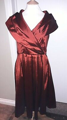 658ead222ada Lindy Bop Amber Burgundy 1950's Style Prom Special Occasion Dress Size 16