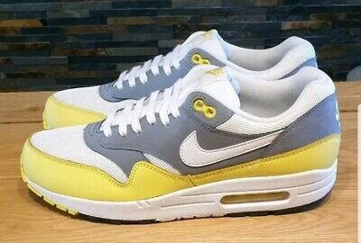 Air Max Trainers Size Essential Nike 1 5Whitegryyell Mens 8 sQhCtrd