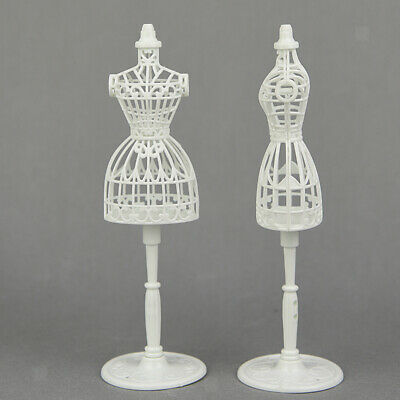 2Pcs 1/6 Doll Plastic Display Holder Dress Clothes Gown Model Stand Holder