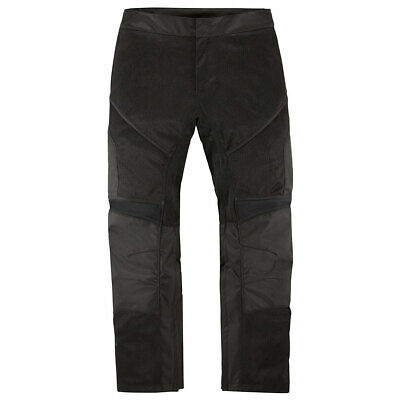 Icon Contra 2 Mesh Textile Motorcycle Motorbike Riding Trousers Black