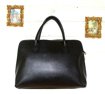 Wunderbare Leder Tasche Handtasche City Bag Leather Shopper Business Italien