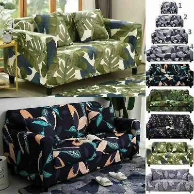 1/2/3/4 Seater Washable Floral Sofa Cover Stretch Slipcover Removable Protector