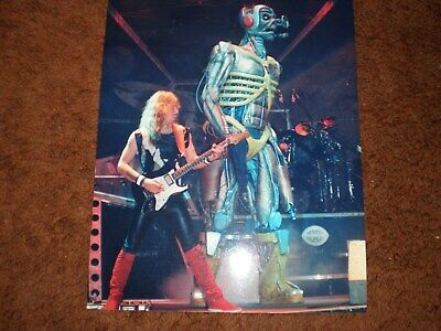 IRON MAIDEN SOMEWHERE IN TIME 1986 DAVE MURRAY AND EDDIE 8X10 PHOTO powerslave