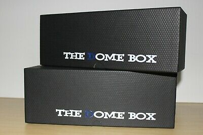 Two Each  Black Color  Dome Boxes /Sports Cards Storage Box Psa & Beckett Slab