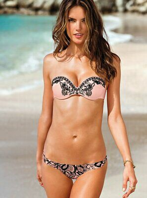 Victoria's Secret Push Up Sequin Bandeau Bikini Set 36D/S; 36D/M US