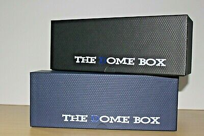Two Each Black & Blue Dome Boxes /Sports Cards Storage Box Psa & Beckett Slab