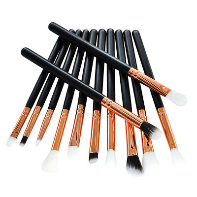 12x pro makeup brushes set cosmetic eyeshadow eyeliner lip brush tool FBB