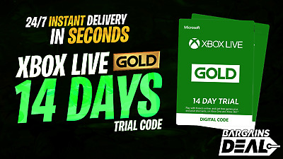 ⭐️24/7 Instant Delivery⭐️ 14 Days Xbox Live Gold Trial Membership Xbox One 360⭐️
