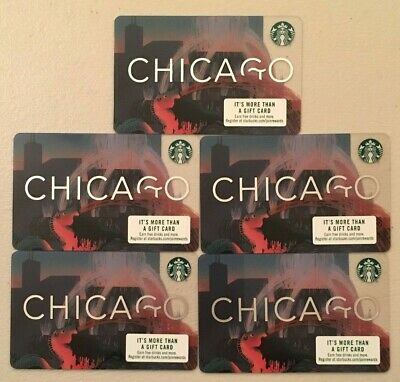 Starbucks Gift Cards ~ 2019 Chicago Buckingham Fountain Lot of 3 ~ New/No Value