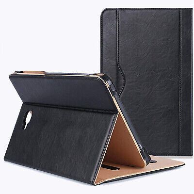 Real Leather Tablet Stand Folio Cover Case For Samsung Galaxy Tab A6 10.1 T580