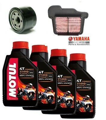 Servicing Motul 7100 Oil Filters Air Oil Yamaha Xsr 900 ABS 2015 2016 2017