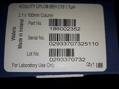 Waters Acquity UPLC Column BEH C18 1.7um pn 186002352 (Never Used)