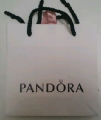 NEW GENUINE PANDORA GIFT BAG WITH PINK RIBBON 16cm x 16cm sq