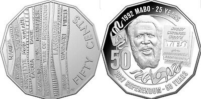 Indigenous Languages and MABO 50 Cent UNC Coins Australia.very Rare coin.Hurry.