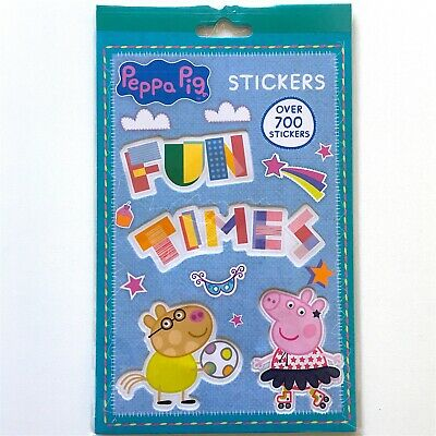 Peppa Pig ™ 700 Stickers Book Sticky Picture Sheets Sticker George Gift Toys New