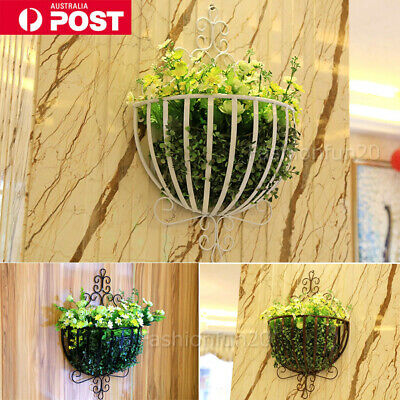 Metal Wall Hanging Plant Flower Basket Pot Holder Succulent Window Door Decor