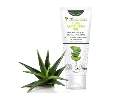 Pure Aloe Vera Organic Ingredients Gel Bio Active All Skin Care