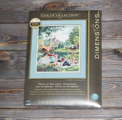 Dimensions Counted Cross Stich Gold Collection Picnic On The Lawn 35065