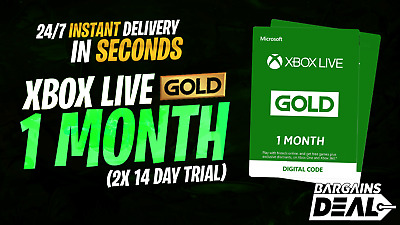 🌟24/7 INSTANT🌟 XBOX LIVE GOLD 1 MONTH MEMBERSHIP XBOX ONE 360 (2x 14DAY TRIAL)