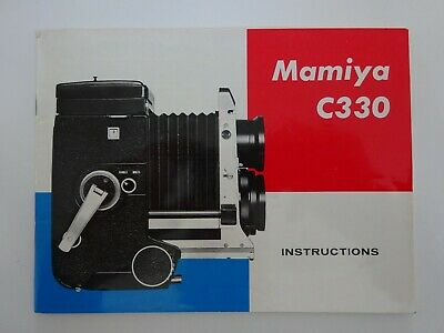 Original Mamiya C330 Instructions (English) Manual
