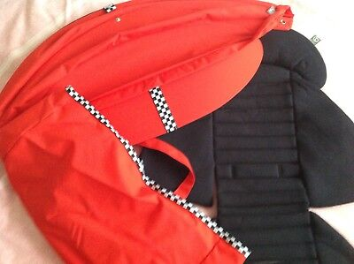 Stokke Scoot Racing Red Style Kit,Red Hood Black Seat Liner,And Red Tote Bag ,