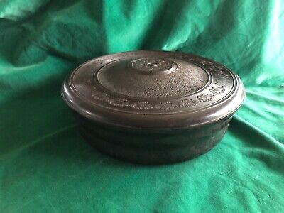 Art Deco 1930s tested Bakelite Round DOMART SEWING TRINKET JEWELRY BOX