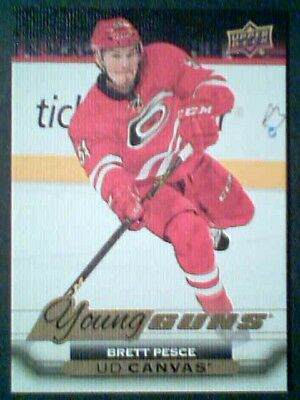 Brett Pesce 15/16 Ud Canvas Young Guns Rookie Variation Card Sp