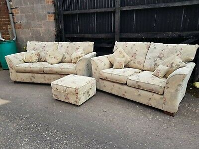 Modern 3 + 2 Seater sofa And Pouffe
