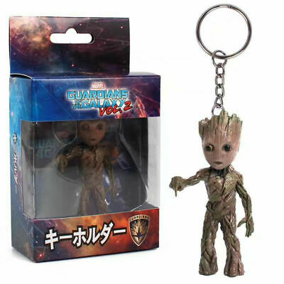 Key Chain Figure Guardians of the Galaxy Vol.2 Baby Groot NIB Push Bomb Button