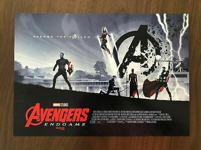 "AVENGERS ENDGAME AMC IMAX EXCLUSIVE POSTER 11"" x 15.5"" Week 2 Of 2 Total (100)"