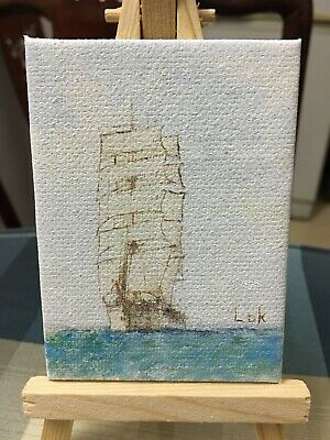 Witch By Chi Lok Antiques Decorative Arts Aceo Original Hand Painting Oil Painting On Canvas