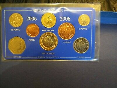 Collectors British  2006 Coin Set. 8 COINS CIRCULATED