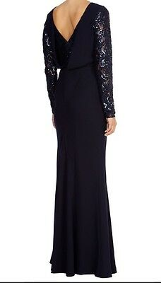 8716fe379ffc BNWT🌹Coast🌹Size 10 Lillianna Lace Sleeved Maxi Prom Dress Ball gown Navy